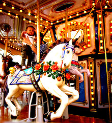 merry-go-round (yewco) Tags: horse white fun hongkong child run  merrygoround maonshan