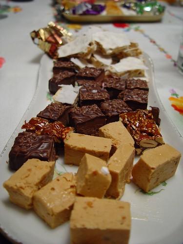 """Spain: Spanish nougat (""""turr�n"""", typical Christmas dessert)."""