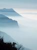 Foggy Mountainscape (_Marcel_) Tags: sky france mountains alps fog frankreich nebel silhouettes himmel berge topf topv alpen topi dunst semnoz top20fav