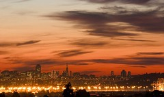 San Francisco Days, San Francisco Nights (Thomas Hawk) Tags: sanfrancisco sunset baybridge transamericabuilding portofoakland topf25 california clouds architecture superfave 10 transamericapyramid transamerica building bridge fav10 fav25 cityscape city scape lights buildings downtown financialdistrict eastbay usa unitedstates unitedstatesofamerica williamlpereira william pereira pereria williampereira fav20 fav30 fav40 fav50 fav60 fav70