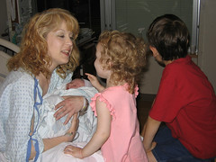 meeting their new brother (cathymccaughan) Tags: evan amy siblings cathy msh0607 msh060713