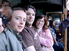 The four of us on a Cable Car (Paul Hammond) Tags: paulhammond amyhammond elina 2005 me us cal calhenderson tagme takenwithixus2 flickr:user=bees flickr:user=paulhammond flickr:user=amyhammond ph:camera=ixus2
