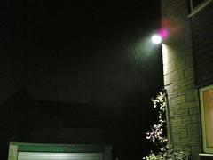 Snow  in the light (-pea-) Tags: snow night nokia6630 cameraphone siddington