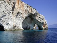 Blue Caves, Zakynthos (RobW_) Tags: 2005 travel blue friends sea 15fav june 1025fav islands 321 greece caves 2550fav zakynthos ionian jun2005 bluecaves 123travel 13jun2005 craigspix eptanisa 250v10f