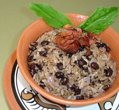 Arroz con Frijoles Negros y Chimichurri de Culantro (cookingdiva) Tags: cookingdiva panama chef cooking cook recipes beans rice culantro