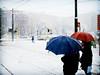 A Splash of Color (sans.otto) Tags: blue red italy white snow milan sign topv111 tag3 taggedout umbrella tag2 italia tag1 traffic milano topc50 signal lomofake 1on1 title2 piazzarepubblica 222v2f topv300 title3 title1 titleit 1on1halloffame utatafeature