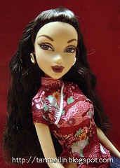 Nolee in a Japanese-print Cheongsam top (zelciia) Tags: asian doll barbie chinoiserie myscene nolee cheongsams