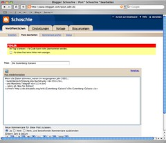 Blogger HTML Check: Mein Tag ist zerbrochen!