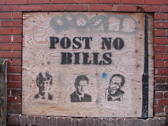 Toronto | Post no bills (ardenstreet) Tags: urban toronto ontario canada graffiti alley paint victoria postnobills dundas billclinton billgates ue billcosby