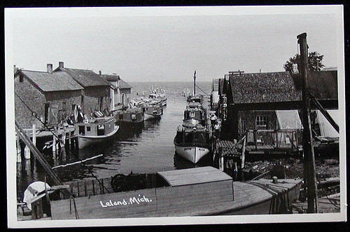 Leelanau Leland early Fishing Fleet Fish Tugs