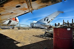 Planes16 (dimsumranch) Tags: california sky color colors clouds composition plane airplane airplanes wide compositions wideangle mojave airline planes junkyard airlines airliners beautifulcirrus