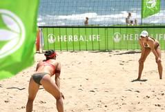 Women's beach volleyball on St Kilda beach in Australia (Michael Blamey_) Tags: summer beach st events australia melbourne games womens volleyball stkilda kilda