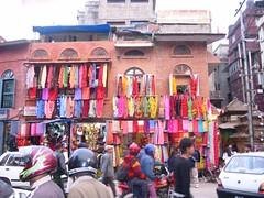 Textile Shop, Katmandhu (andywalker1) Tags: nepal bhutan himalaya pokhara andrewwalker himalayas pokara andywalker katmandhu thingpu