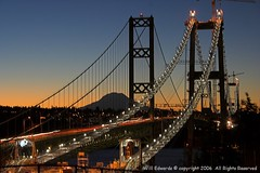 06_0994sm_narrows_sunrse_sunrise_tracks (Winginhunk) Tags: bridge mountains sunrise washington bridges rainier tacoma 1855mm narrows