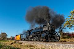 Putting a cap on a great weekend (kdmadore) Tags: steamlocomotive steam soo1003 soo train railroad wisconsinsouthern wsor mikado sooline steamengine