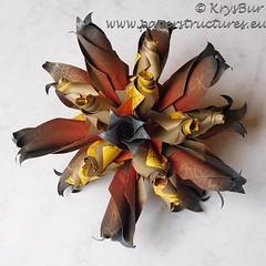 Firestorm (K16057) (Origami Spirals) Tags: curler paper fold twirl origami burczyk folding art krysbur