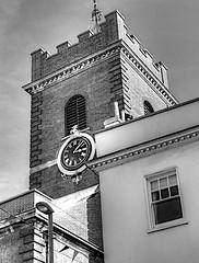 OPEN WINDOW (conespider) Tags: open window church tower outdoor outside blackwhite blackandwhite guilford surrey england uk 2016 nikon building