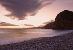 Atardecer en Maro VI (jaroro70) Tags: rio atardecer mar nubes miel olas mlaga nerja orilla maro