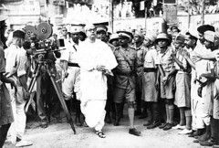 Netaji Subhash Bose - arriving at 1939 AICC me...