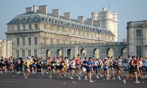Paris Marathon 2007- passing the Chateau de Vincennes