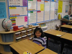 Anna in her classroom. (03/12/07)