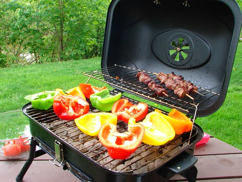 Peppers on grill