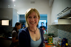 Eve...stopping to smile (- haf -) Tags: canon iron australia melbourne chef 5d iso1600 thornbury haf 24mmf14l