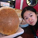 An English muffin the size of Cindy's head