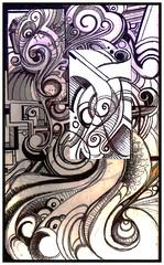patchwork (stUNts.) Tags: lines pen ink curves page marker value patchwork