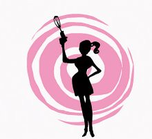 pink swirl lady logo