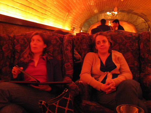 Angela and Val at the Tunnel Bar