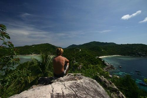 From John Suwan Rock, Koh Tao, Gulf of Thailand.