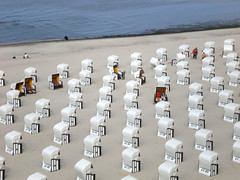 Beach Chairs (veloopity) Tags: white beach germany seaside sand balticsea rgen ostsee strandkorb sellin beachchair