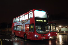 Arriva DW577 (LJ13CJU) Turnpike Lane Stn 10th Dec 2016 (BristolRE2007) Tags: arriva arrivalondonnorth london londonbus daf wright lj13cju turnpikelane