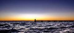 Untitled (Wouter de Bruijn) Tags: fujifilm xt1 fujinonxf14mmf28r sunrise dawn morning lake waves water sky jetty pier panoramic panorama nature outdoor serene calm zen veersemeer