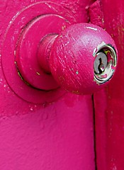 behind the pink door