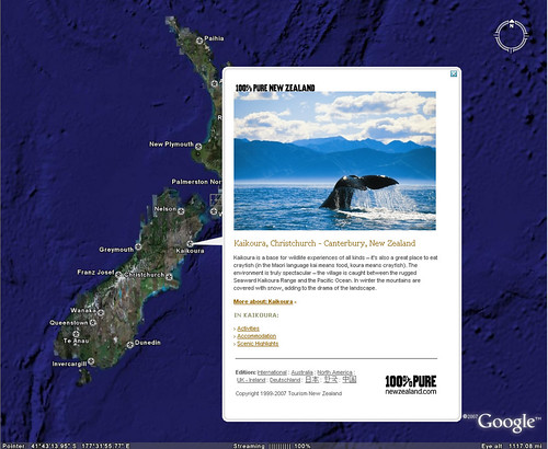 Google Earth - New Zealand Tourism Layer