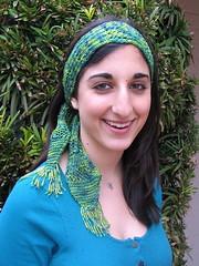 Jacqueline Headband (SleepyEyes) Tags: amanda lace radiance jacqueline knitted headbands headband organicgreens yarnbotanika radiancelaceheadband ginahouse