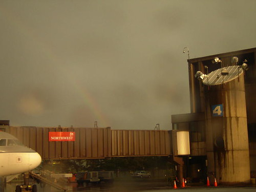 Rainbow at the Duluth Airport.