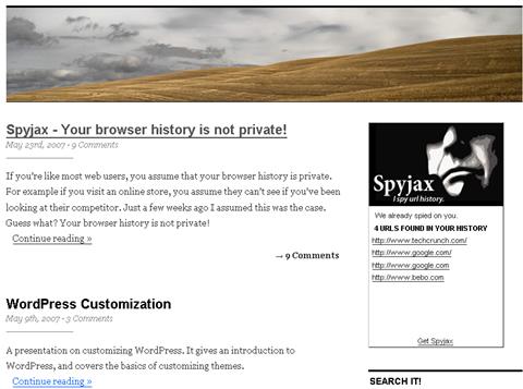 看光光你的瀏覽記錄的Spyjax