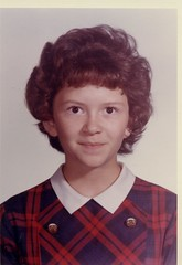 1965 - 10 - toni date guess (Mississippi Snopes) Tags: smile mississippi hair toni cropped schoolphoto tight collar plaid gaze greenville sixthgrade direct