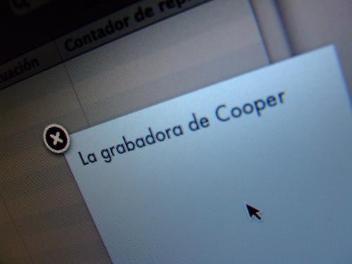 La grabadora de Cooper