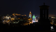 Classic Edinburgh view with a twist (Kit Carruthers) Tags: 2016 christmasfestival edinburgh november scotland sonya7ii sonyfe1855za autumn longexposure nighttime
