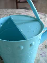 Blue water pail