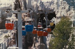 Disneyland Skyway Through the Matterhorn (ATIS547) Tags: ride 1st disneyland disney gondola matterhorn anaheim tomorrowland attraction fantasyland skyway vonroll