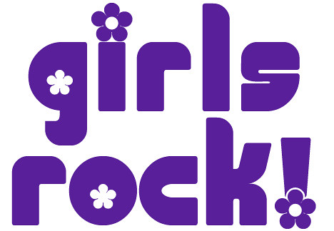 girls rock stencil