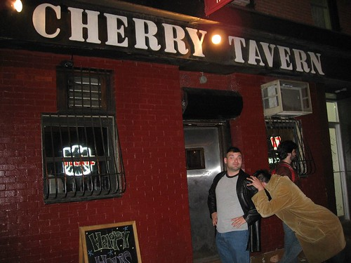 Jon and Kai outside Cherry Tavern