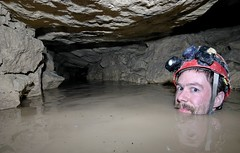 Bathing in Paris, France. (Esprit de sel) Tags: portrait water pool swim self ego underground bath eau flood helmet corridor moi limestone bain brave bathing quarry 1022mm speleo souterrain cccp flooded souterraine nageur baignade carriere caver baigneur noye cataphile chlostrophobia speleogie grotbeklimming
