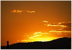 `[-.-] (Paco CT) Tags: sunset red sky orange color landscape atardecer rojo dus