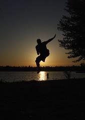 Greenlake Silhouette (Glockoma) Tags: portrait me silhouette self myself jump mine levitation rob greenlake selfportait levitate robjones belikepoo